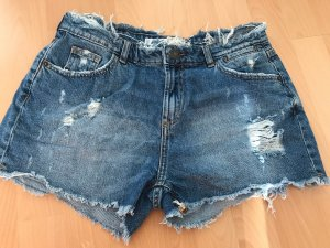 Fishbone Pantalón de cintura alta azul-blanco