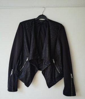 Amisu Korte blazer zwart-zilver