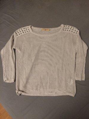 Rockiger Pullover Tom Tailor Denim Größe S Nieten grobmaschig