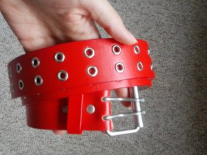 Studded Belt silver-colored-red