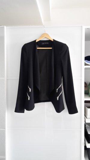 Rockiger Zara Woman Blazer Gr. S 36 schwarz Reißverschlüsse