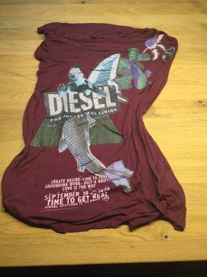 rockiges Dieselshirt mit Schulterausschnitt-bordeux