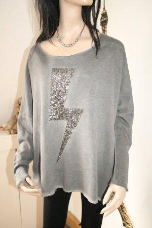 Sweatshirt gris-gris anthracite