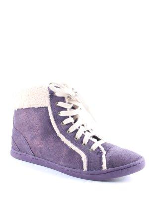 Rockport High Top Sneaker lila-beige Kuschel-Optik