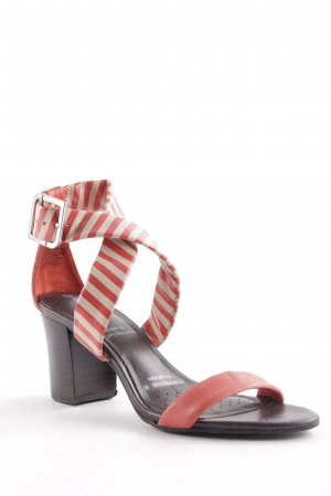 Rockport Strapped High-Heeled Sandals striped pattern casual look