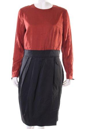 Rocksanda Ilincic Longsleeve Dress black-russet color blocking business style