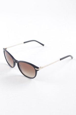 Rodenstock ovale Sonnenbrille schwarz-cognac Casual-Look
