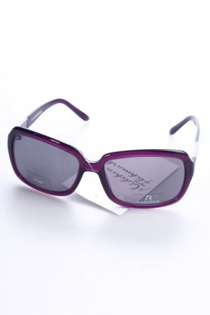 Rodenstock ovale Sonnenbrille violett Street-Fashion-Look