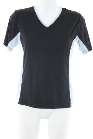 Rodeo Sportshirt dunkelblau-himmelblau Colourblocking sportlicher Stil