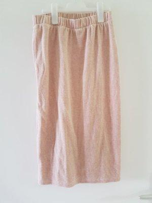 Noisy May Falda de talle alto color rosa dorado