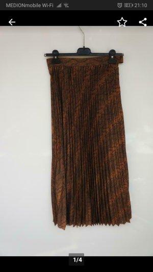 H&M Skater Skirt brown-dark brown