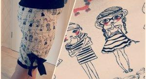 Röcke Bolerojäckchen Kapuzen Schal