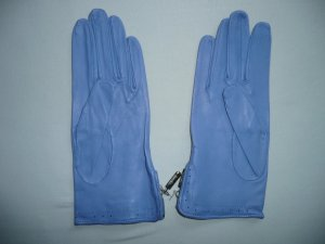 Roeckl Guantes con dedos azul celeste Cuero