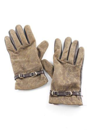 Roeckl Guantes con dedos estampado con aplicaciones look Boho