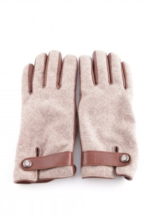 Roeckl Fingerhandschuhe wollweiß-braun meliert Elegant