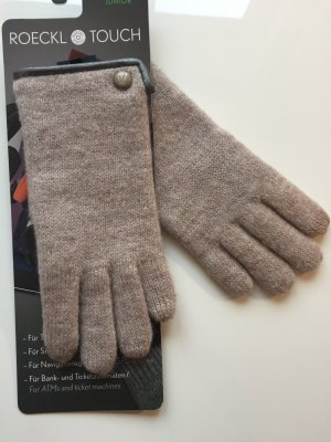 Roeckl Knitted Gloves beige-camel new wool