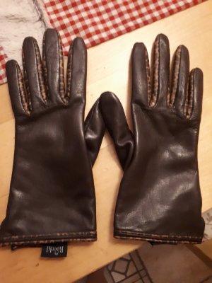 Roeckl Handschuhe, Gr. 7, braun/leo