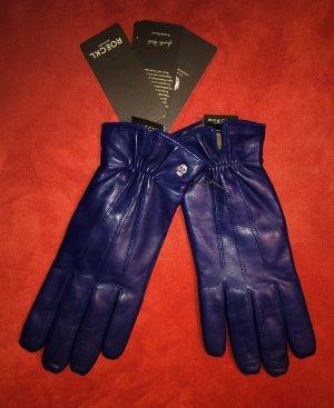 Roeckl Leder Handschuhe Dunkelblau Navy 7,5 Neu m. Etikett 80€