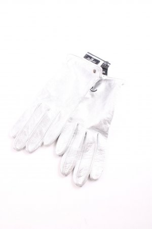 Roeckl Leather Gloves silver-colored casual look
