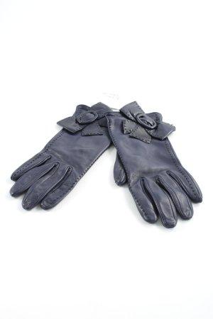 Roeckl Lederhandschuhe dunkelblau klassischer Stil