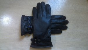 Roeckl Leather Gloves dark brown leather