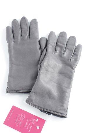 Roeckl Lederhandschuhe grau Casual-Look