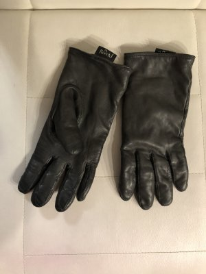 Roeckl Leather Gloves grey-light grey