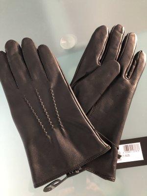 Roeckl Gevoerde handschoenen zwart Leer