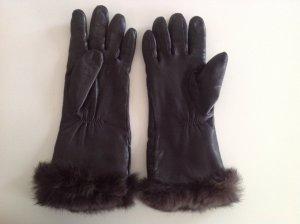 Roeckl Guanto di pelliccia marrone scuro
