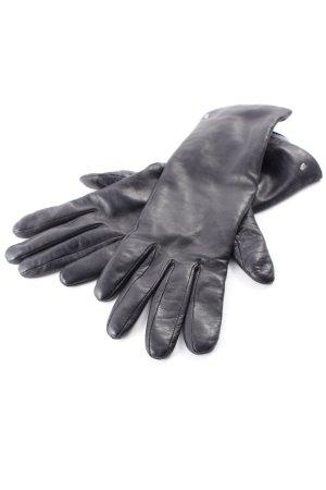 Roeckl Leren handschoenen zwart-beige Britse uitstraling