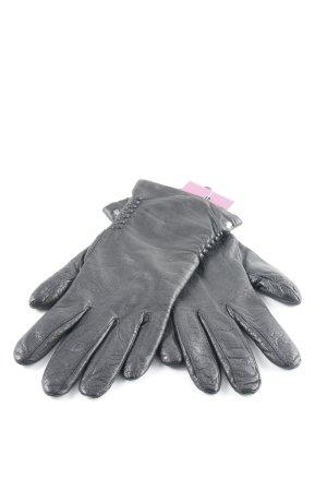 Roeckl Leren handschoenen zwart Biker-look