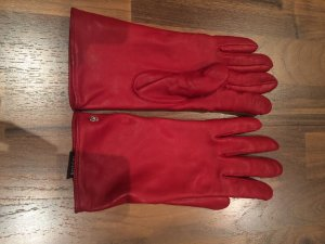 Roeckl Leather Gloves red-brick red leather