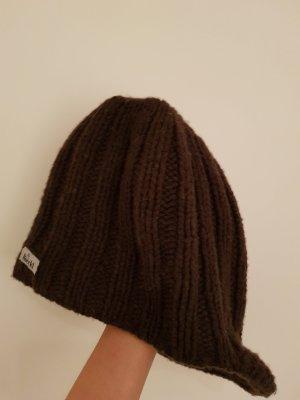 Roeckl Muts zwart bruin Merinowol