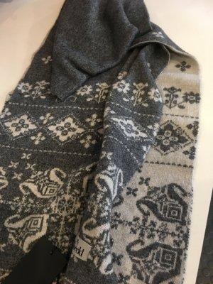 ROECKL SCHAL Norweger Muster, Grau/Ecru