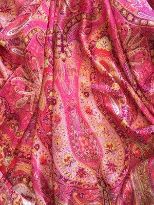 Roeckl Seidentuch, 140x140cm, pink, Paisley, neuwertig
