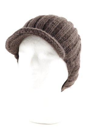 Roeckl Chapeau en tricot brun torsades style décontracté