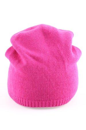 Roeckl Sombrero de punto rosa look casual