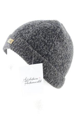 Roeckl Chapeau en tricot noir-gris moucheté style décontracté