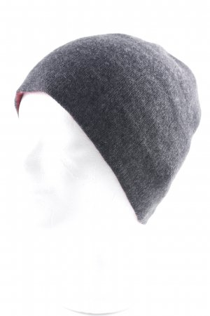 Roeckl Knitted Hat taupe-dark red simple style