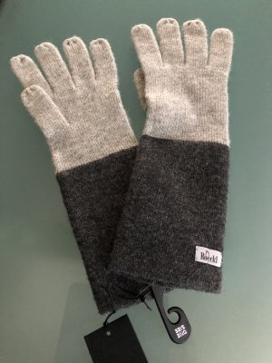 Roeckl Gloves light grey-anthracite wool
