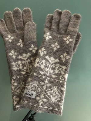 Roeckl Gloves grey brown-oatmeal wool