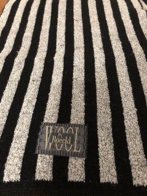 Roeckl Woolen Scarf black-white wool