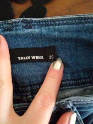 Tally Weijl Pantalon cigarette bleu azur