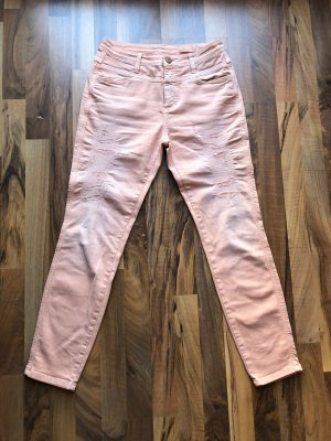 Closed Tube Jeans apricot