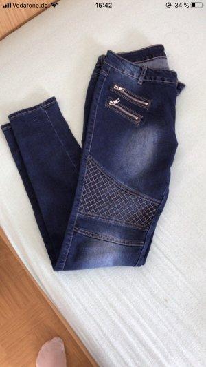 Drainpipe Trousers blue