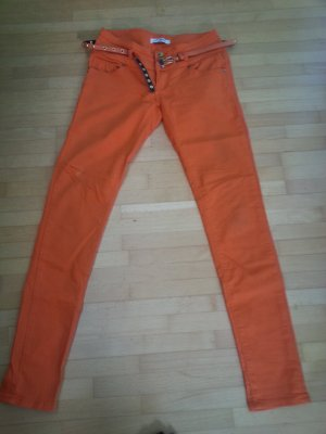 Drainpipe Trousers orange