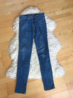 H&M High Waist Jeans cornflower blue-blue