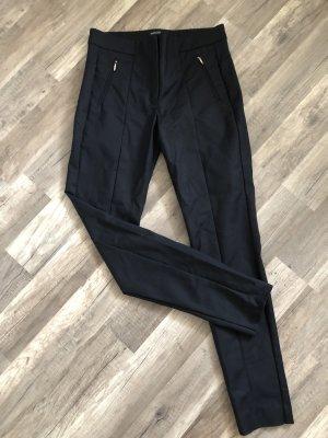 Mango Drainpipe Trousers black-silver-colored