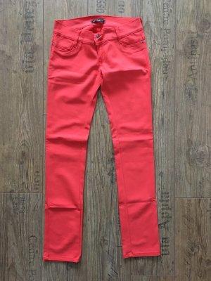 Drainpipe Trousers neon orange