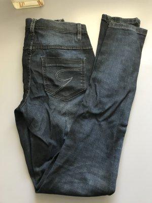 Drainpipe Trousers dark blue-black
